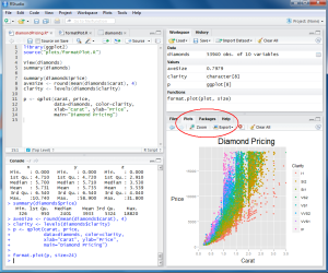 RStudio Interface for Windows from RStudio.com